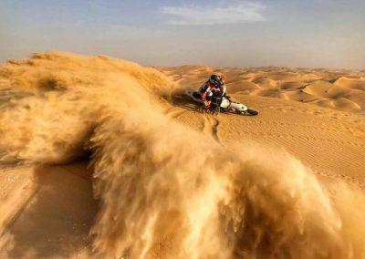 motorbike in desert